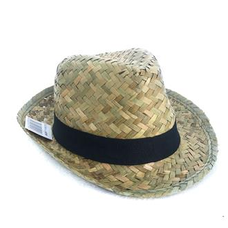 Flax Fedora Hat Black Band